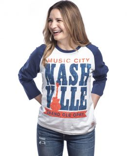 Opry Music City Nashville Raglan Tee