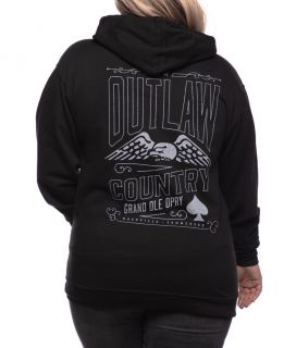 Grand Ole Opry Unisex Outlaw Country Spade Full-Zip Hoodie