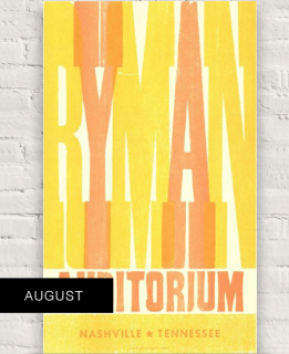 2018 August Ryman Hatch Show Print