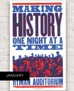 Ryman 2018 History One Night at a Time Hatch Show Print