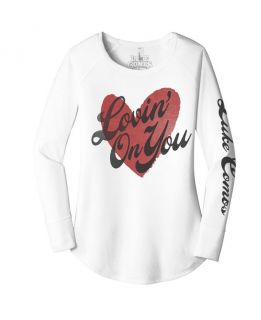 Luke Combs Women's Long Sleeve Lovin On You Tee