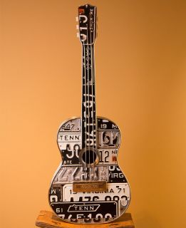 Tennessee License Plate Decorative Guitar