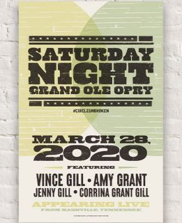 Grand Ole Opry Lineup Poster March 28th 2020