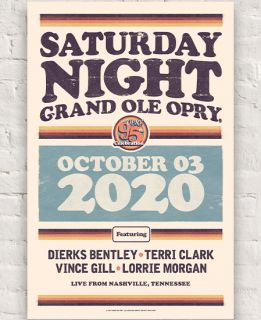 Opry Lineup Poster October 3rd 2020