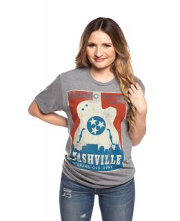 Opry Unisex Music City Guitar Tee