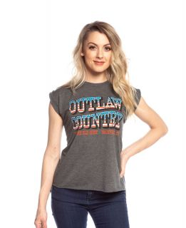 Grand Ole Opry Women's Outlaw Country Flag Tee