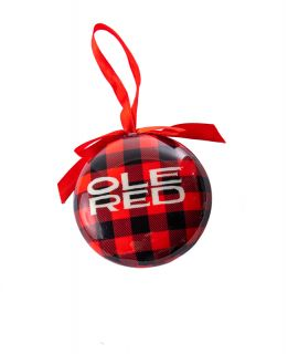 Ole Red Buffalo Plaid Ornament