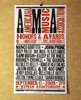 2009 Americana Honors & Music Awards Hatch Show Print