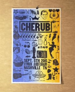 2015 Cherub at the Ryman Hatch Show Print