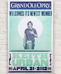 Keith Urban Opry Induction Hatch Show Print