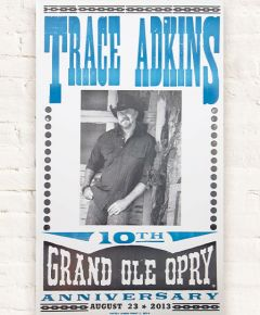 Trace Adkins 10th Anniversary Poster