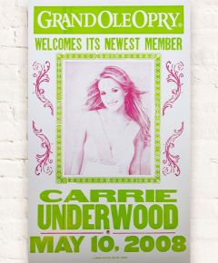 Carrie Underwood Opry Induction Hatch Show Print