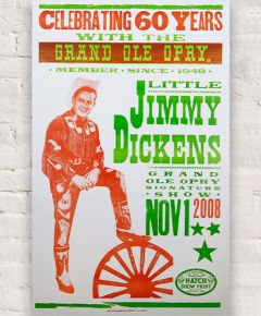 Jimmy Dickens 60th Anniversary Poster