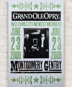 Montgomery Gentry Opry Induction Hatch Show Print