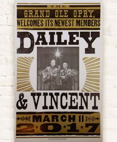Dailey & Vincent Opry Induction Hatch Show Print