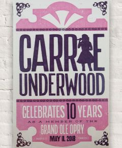 Opry Carrie Underwood 10th Anniversary Show Poster