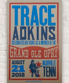Trace Adkins 15th Anniversary Hatch Show Print