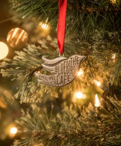 Bluebird Flyer Logo Ornament