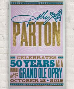Dolly Parton 50th Anniversary Hatch Show Print