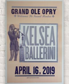 Kelsea Ballerini Opry Induction Hatch Show Print
